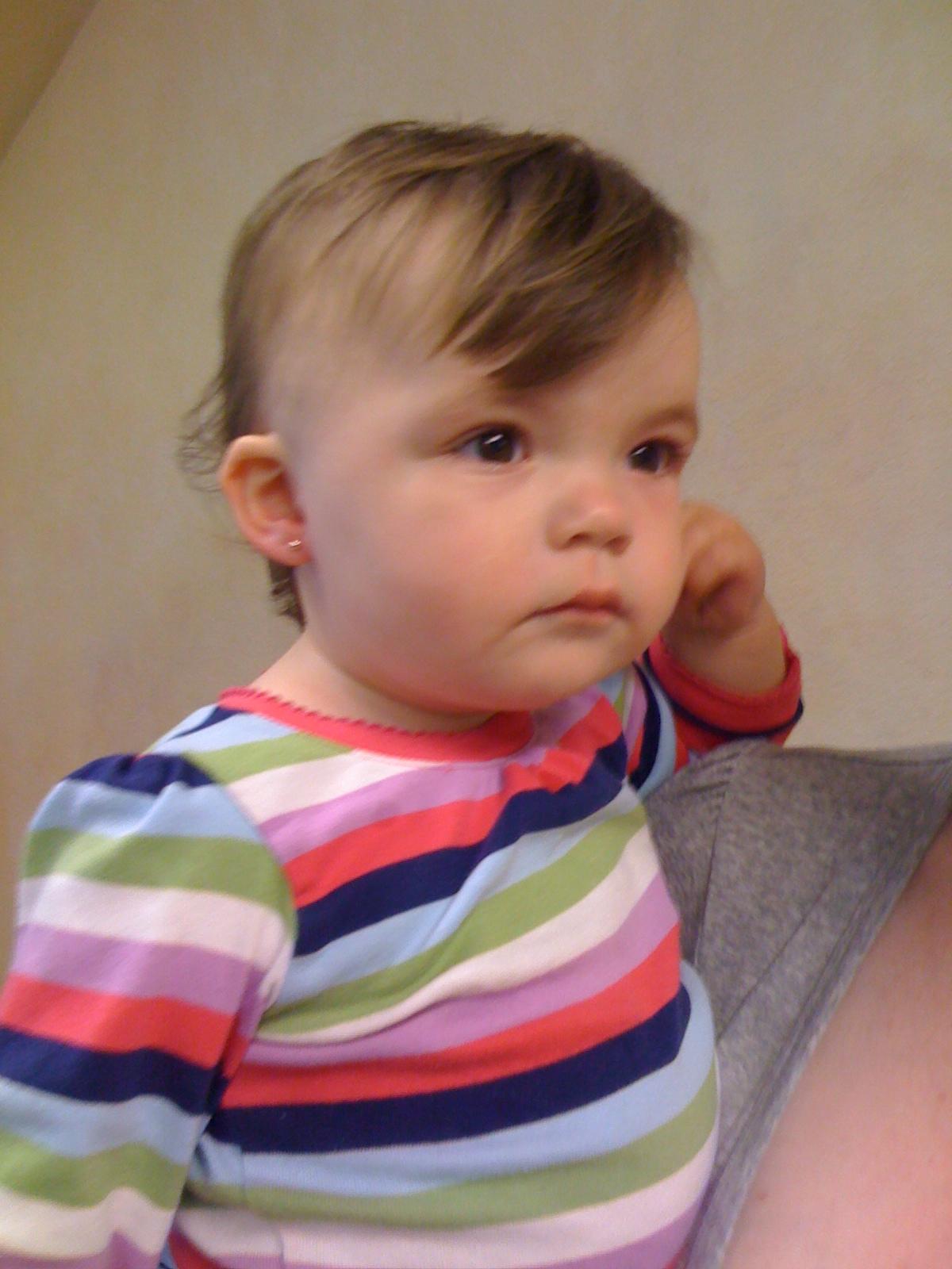 Double Ear Piercing Pearls Baby ear piercing - infant ear Ear Piercing Tumblr